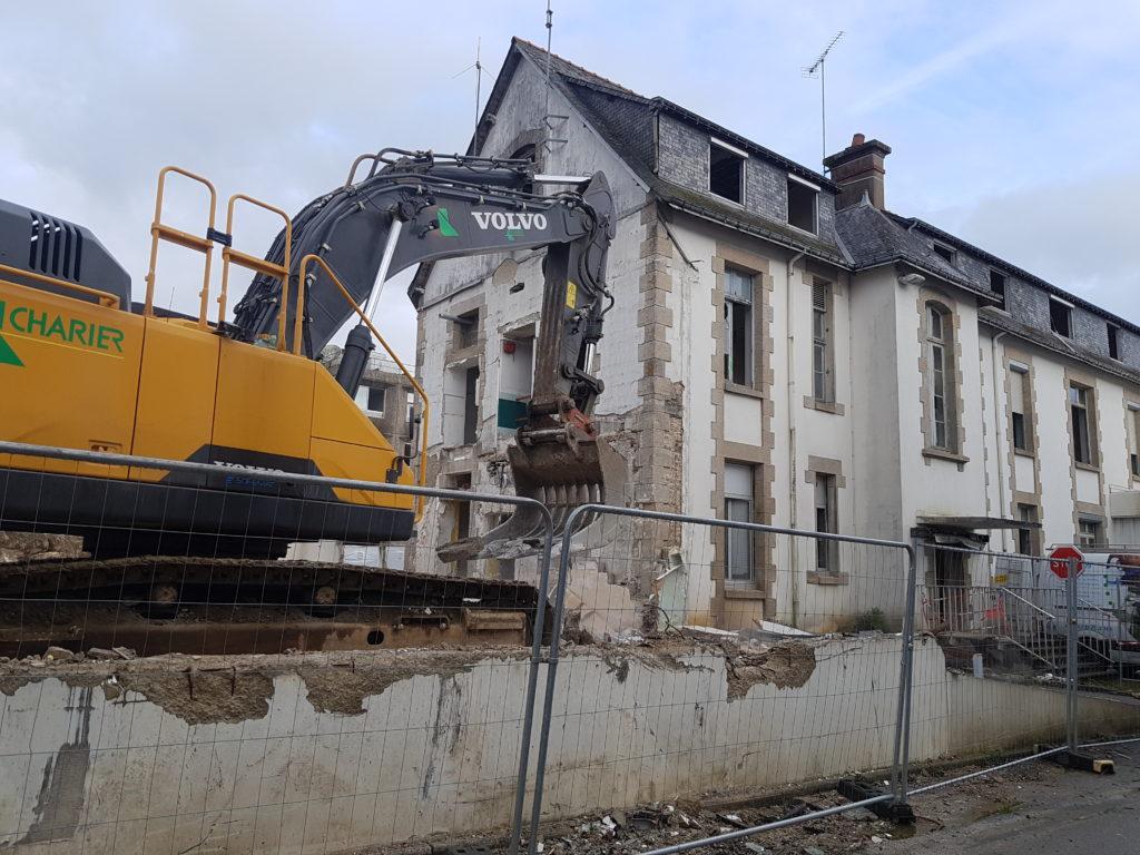 Visite du chantier de l'ancien hôpital