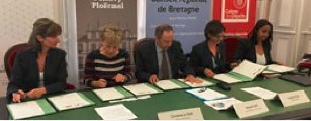 Signature de la convention «Dynamisme des bourgs ruraux et des villes en Bretagne»