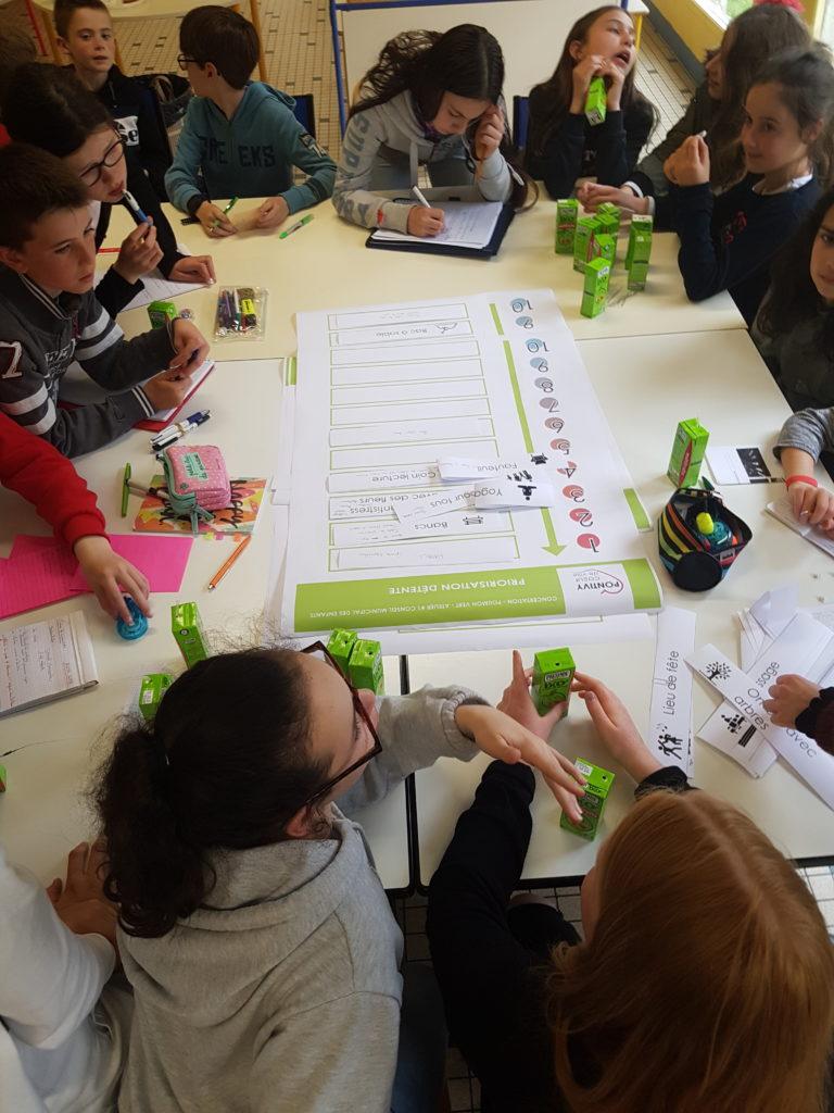 Poursuite du travail sur le Poumon vert avec les enfants du Conseil Municipal